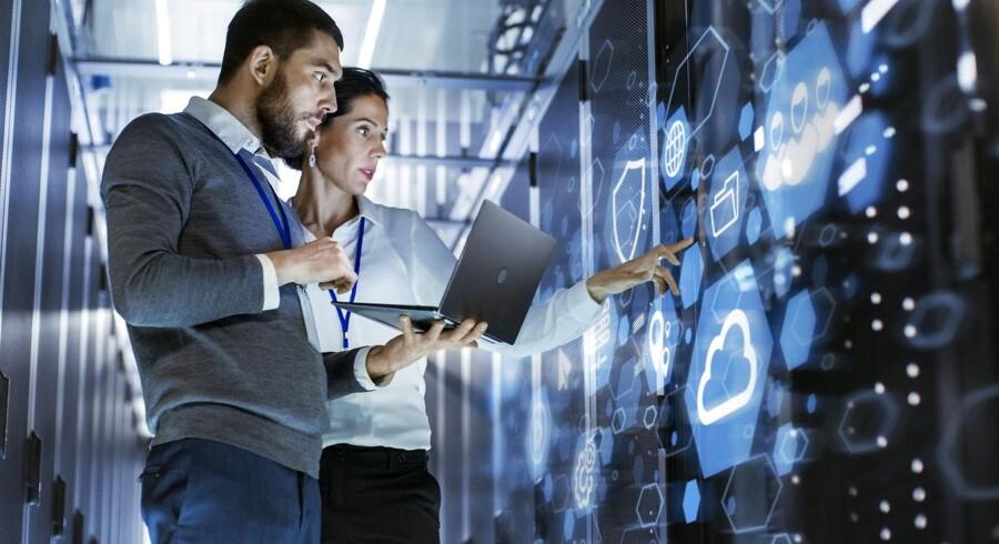 IT-branchen er i vækst i Danmark, men det kniber med at øge eksporten. Arkivfoto: Iris/Scanpix