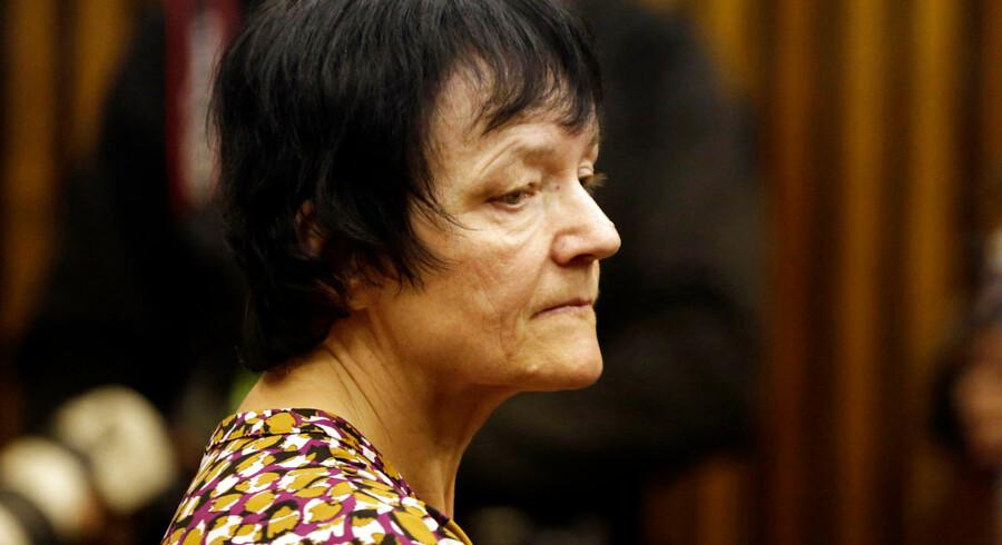 Britta Nielsen i retten i Johannesburg, inden hun blev udleveret til Danmark.
