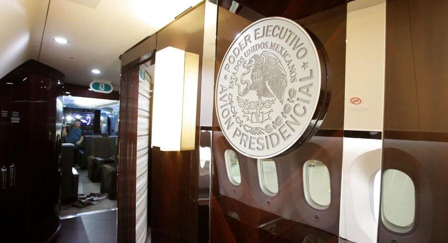 Et kig ind i den mexikanske præsidents fly.