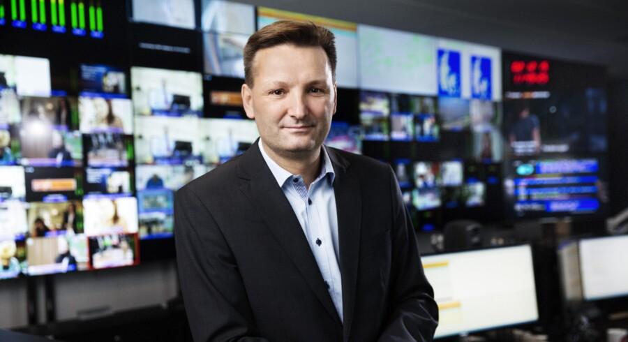 Med nye, pengestærke ejere i ryggen skal administrerende direktør Martin Løbel udvide Teracoms forretning i Danmark med basis i det landsdækkende radio-/TV-sendenet. Foto: Teracom