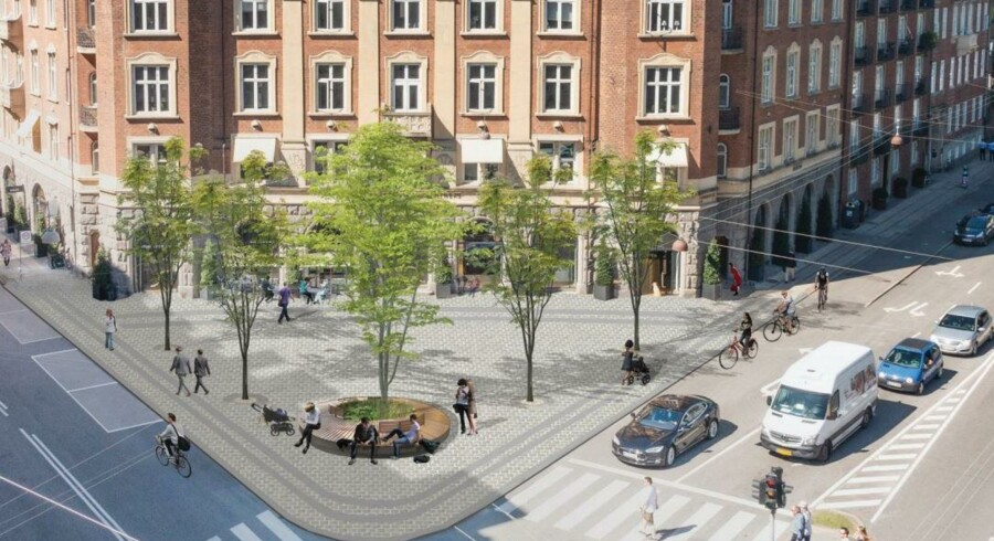 Sådan kommer den nye plads til at se ud ifølge Gehl Architechts.