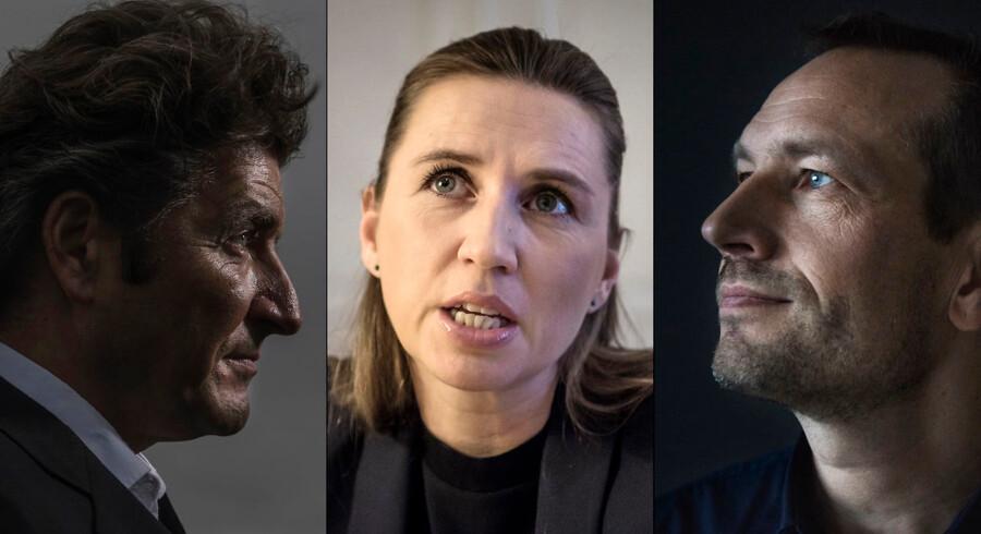 Iværksætterne André Rogaczewski (tv.) og Martin Thorborg (th.) er på ingen måder tilfredse med de forslag, som S-formand Mette Frederiksen præsenterede i sidste uge.