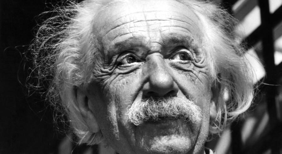 »Ordet Gud er for mig intet andet end et udtryk for og et produkt af menneskelig svaghed«, skrev Albert Einstein i et brev, der netop er blevet solgt for næste tre millioner dollar. Arkivfoto: Ritzau/Scanpix