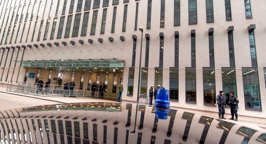 OPEC-landene, der holdt møde i Wien i sidste uge, styres af Saudi-Arabien, der for tiden gør alt for at tækkes præsident Trump. Det har sat alliancens sammenhold under pres. Foto: Joe Klamar/ AFP/Ritzau Scanpix