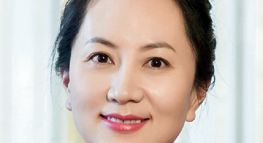 Den 46-årige Meng blev anholdt i lufthavnen i Vancouver 1. december, hvor hun var i færd med at skifte fly på vej til Mexico fra Kina. Huawei/Handout/