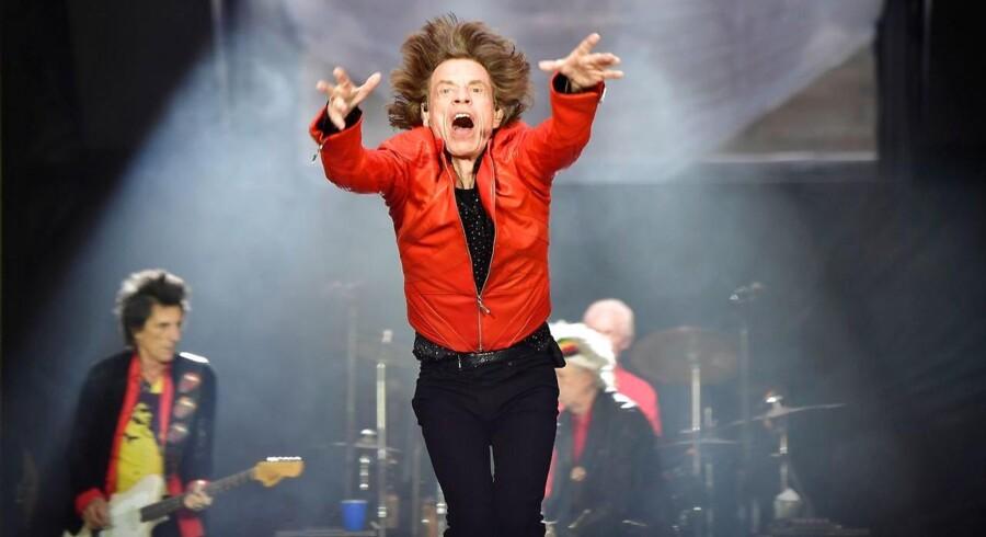 Rolling Stones med den lendariske forsanger, Mick Jagger, er blandt de bands, som i de senere år har været i Danmark.