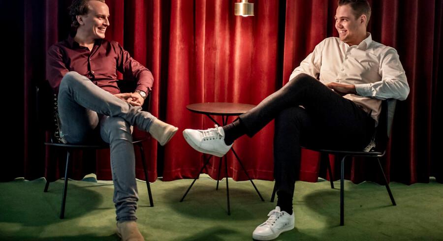 Peter Ladegaard og Frederik R. Petersen stifterne af Easytranslate. Firmaet har vundet en tolkningsordre hos Justitsministeriet for en halv milliard. Arkivfoto.