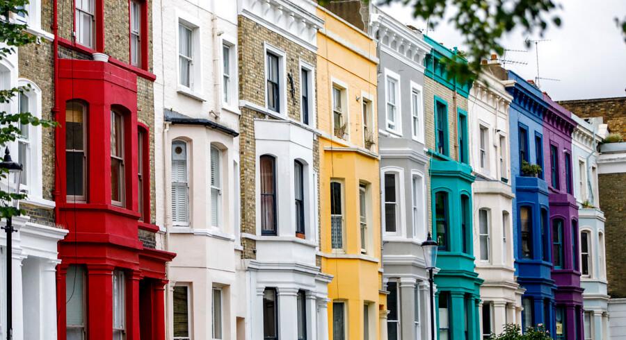 Arkivfoto. Det berømte Notting Hill-kvarter i det vestlige London.