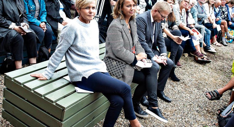 Kulturminister Mette Bock (LA) ved åbningen af Kulturmødet Mors 2018. Hun frygter, at demokratiet er blevet en skrøbelig dame, vi ikke tager alvorligt, fordi populisterne har fået for let spil. Arkivfoto: Henning Bagger/Ritzau Scanpix