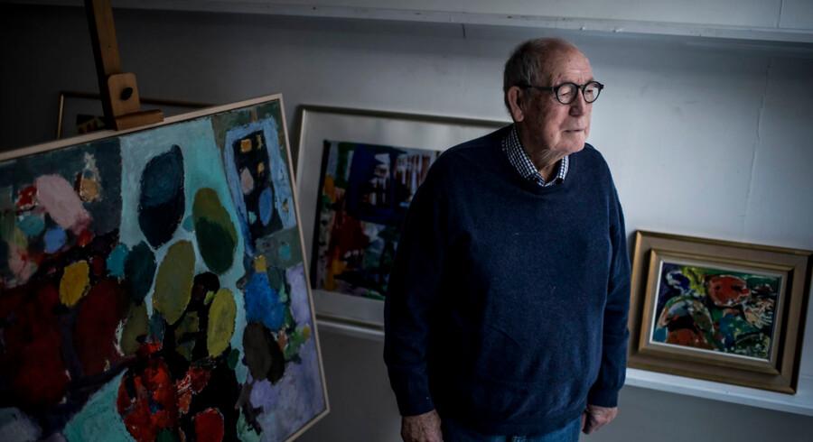 Leif Jensen, 93, blev galleriejer efter mange år som chefredaktør på B.T. Foto Asger Ladefoged