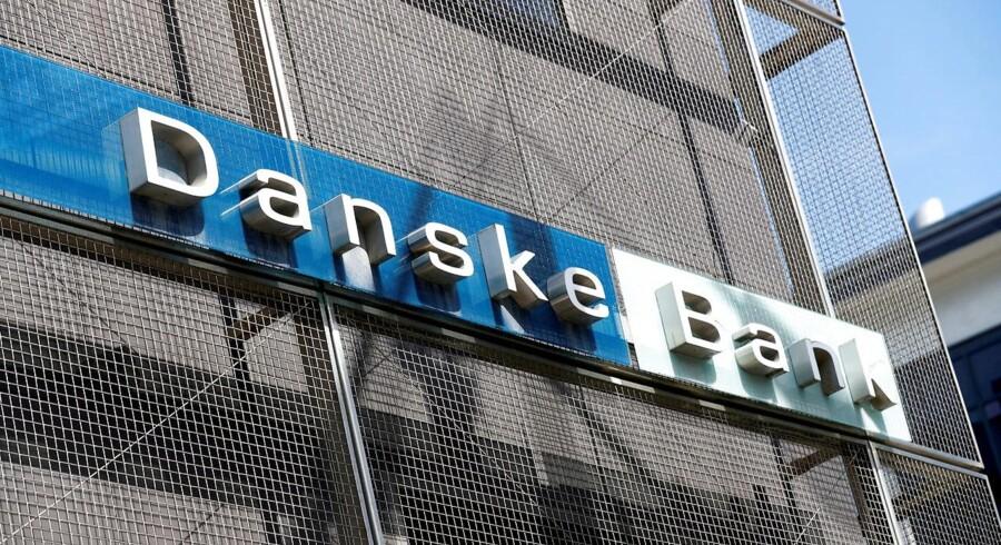 Danske Bank-skiltet på filialen i Tallinn. Arkivfoto.
