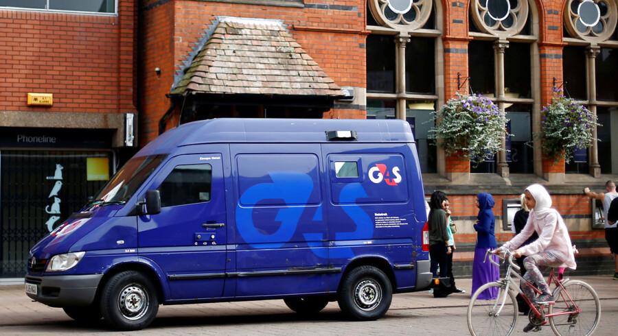 En G4S-pengetransport parkeret foran en bank i Loughborough, det centrale England. Arkivfoto: Darren Staple/Reuters/Ritzau Scvanpix