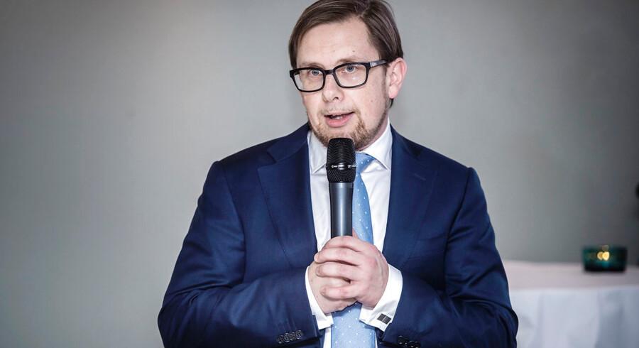 Økonomi- og indenrigsminister, Simon Emil Ammitzbøl-Bille, taler i dag ved Økonomisk Redegørelse. Redegørelsen indeholder regeringens prognose for dansk økonomi og vurdering af de offentlige finanser. Billedet her er et arkivfoto.