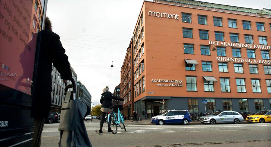 Akademikernes A-kasse Ved Vesterport i København.