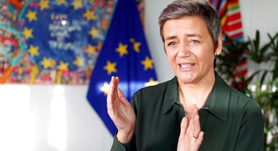 Konkurrencekommissær Margrethe Vestager mener, at man både bør stille med en kvinde og en mand, når man stiller med kandidater til en kommissærpost. Arkivfoto: Francois Lenoir/Reuters/Ritzau/Scanpix