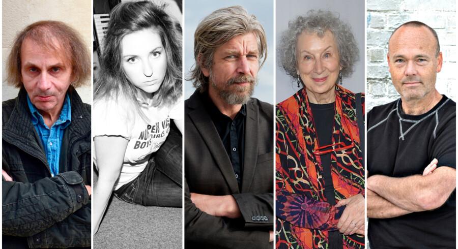 Michel Houellebecq, Christina Hagen, Karl Ove Knausgård, Margaret Atwood, og Peter Øvig