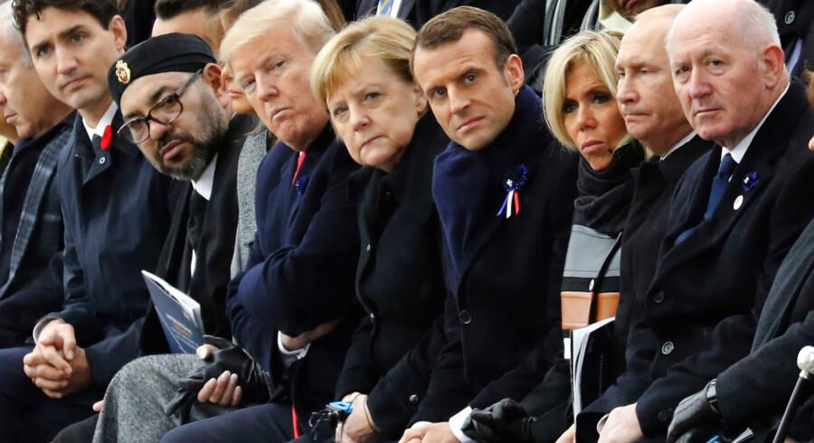 Verdenslederne var samlet i Paris i november i forbindelse med markeringen af 100 året for Første verdenskrigs afslutning.