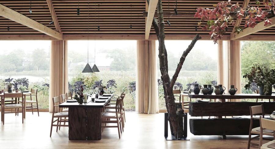 Første år på Noma 2.0 tog verden med storm. Her spisesalen i restauranten, som er tegnet af Bjarke Ingels.