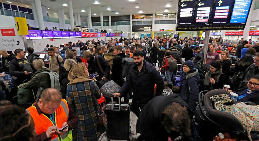Den 20. december 2018 fra syd-terminalen i Gatwick Lufthavn.