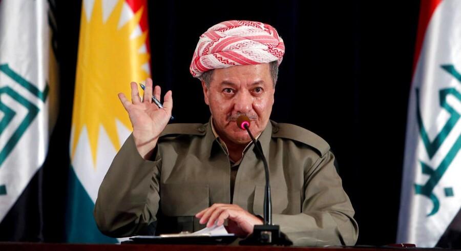 Den kurdiske leder Masoud Barzani råder kurdere til at gøre detes yderste for at undgå en borgerkrig med Irak.