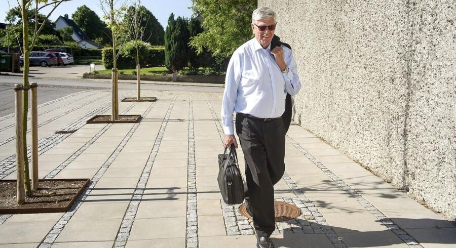 Niels Valentin Hansen ankommer til Østre Landsrets lokaler i Søborg for sidste gang. Han har deltaget i samtlige 112 retsmøder, men er som sædvanlig fåmælt og har ingen kommentarer.