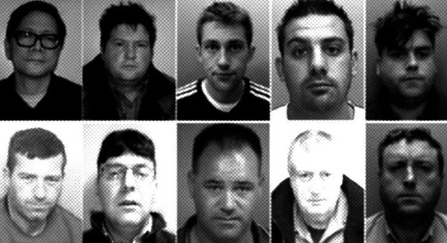 Britiske medier har døbt banden herover »Rathkeale Rovers«. De 14 bandemedlemmer er blevet idømt fængsel i mellem fire og syv år for kunsttyverierne. Foto: Durham Police