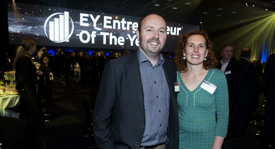 EY Entrepreneur of the Year i Bella Center. Vinder af region Nordjylland, Liftra ApS. Dir. Per Fenger og Maria Vinther Fenger. Den 24. november 2016.