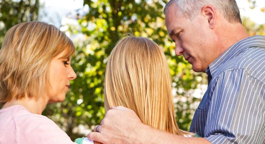 »I kan som forældre sørge for, at omgivelserne derhjemme er så gode som muligt.« Modelfoto
