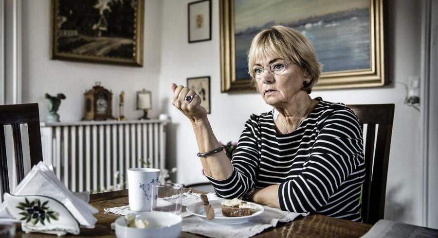 Pia Kjærsgaard fra Dansk Folkeparti i sit hjem i Gentofte.