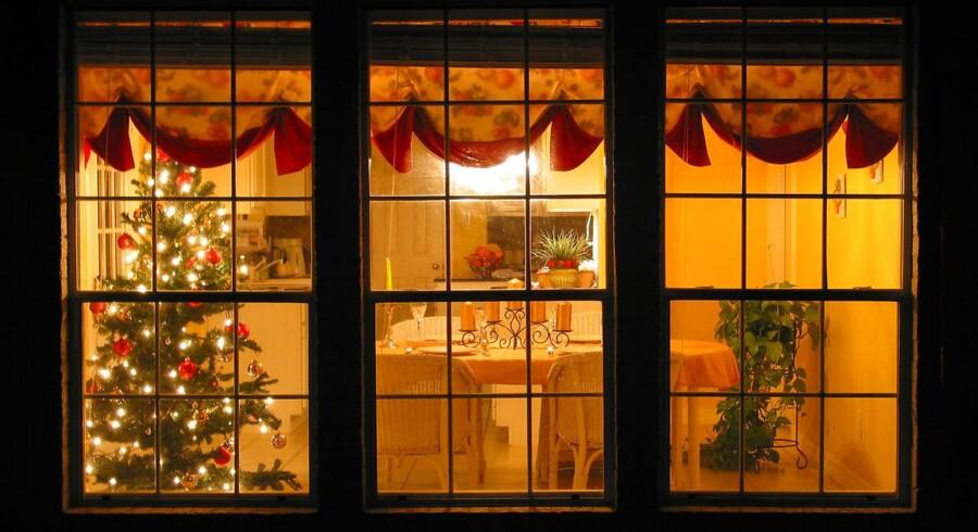 Skal du hjemmefra i julen? Så er det værd at tænke over, hvordan du efterlader dit hus, hvis du vil undgå indbrud. (Arkivfoto: Erik Refner/Scanpix 2013)