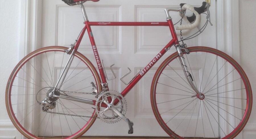Marc Winthers Bianchi-cykel. Privatfoto