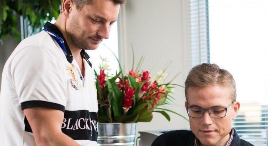 Anders Grønborg og Esben Mols Kabell har så meget fokus på at optimere deres forretning, at de har begået en managementbog, hvor de øser ud af deres gode råd til andre virksomheder. (Foto: LaserTryk.dk)