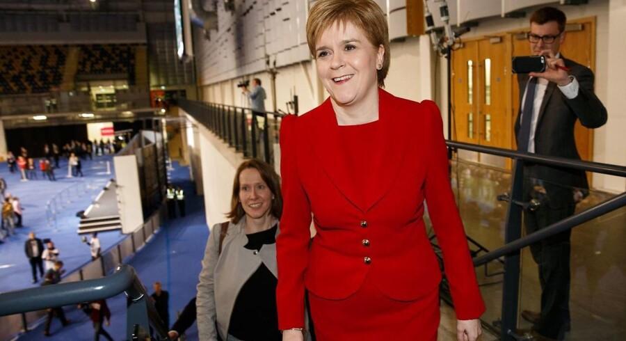 Netop som den britiske regering er ved at udløse EU-udmeldelsen, har den skotske førstminister, Nicola Sturgeon, erklæret, at hun så ønsker en ny uafhængighedsafstemning for Skotland, inden udmeldelsen er en realitet. Arkivfoto: EPA