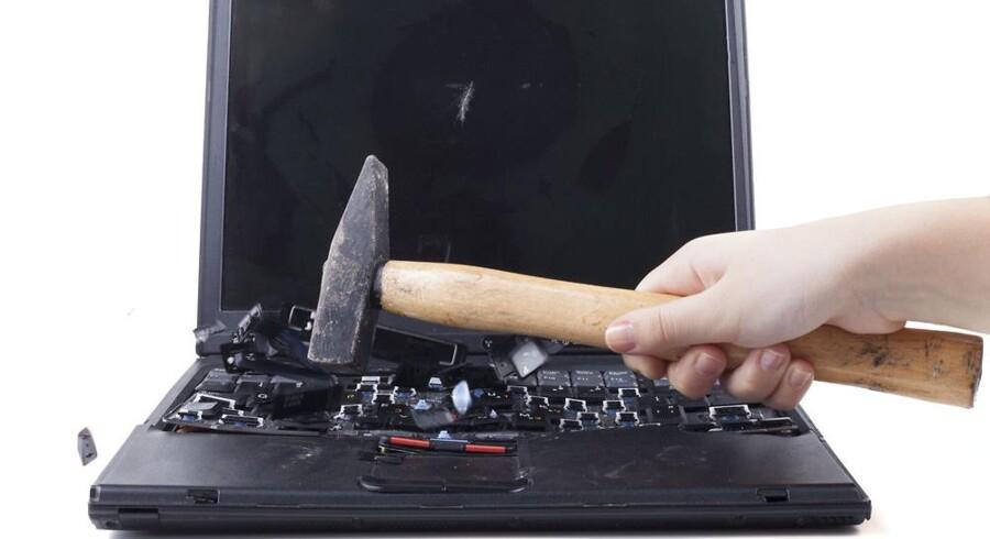 Sådan har mange mindre virksomheder lyst til at gøre, når de bruger offentlige selvbetjeningsløsninger på nettet, fordi de ikke er brugervenlige fra start til slut. Arkivfoto: Iris/Scanpix