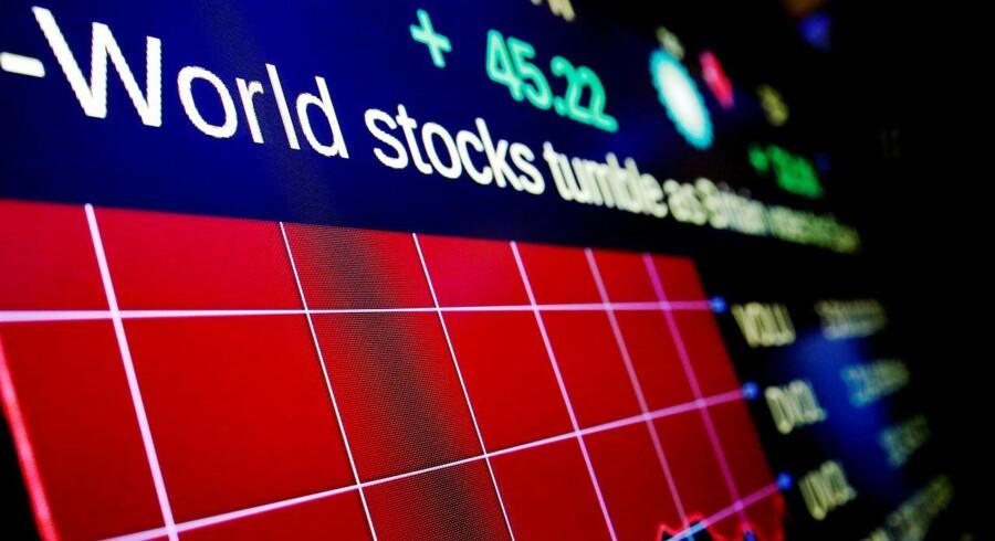 Arkivfoto. Der er fredag middag fald på de europæiske aktiemarkeder, hvor blandt investorerne blandt andet reagerer negativt på regnskaber fra Royal Bank of Scotland og den tyske kemikoncern BASF.