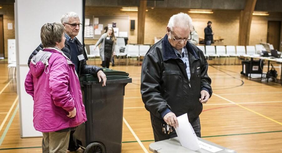 Der stemmes i Horrybyhallen i Guldborgsund Kommune.
