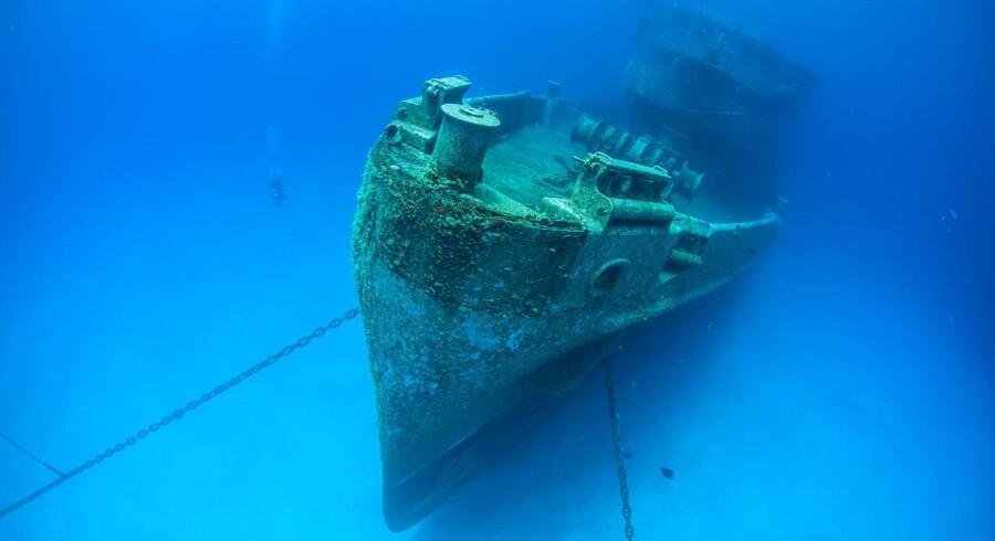 Skibet SS Minden sank i 1939 ud for Islands kyst og skal efter sigende have tonsvis af guld om bord.Dette er et arkivbillede.