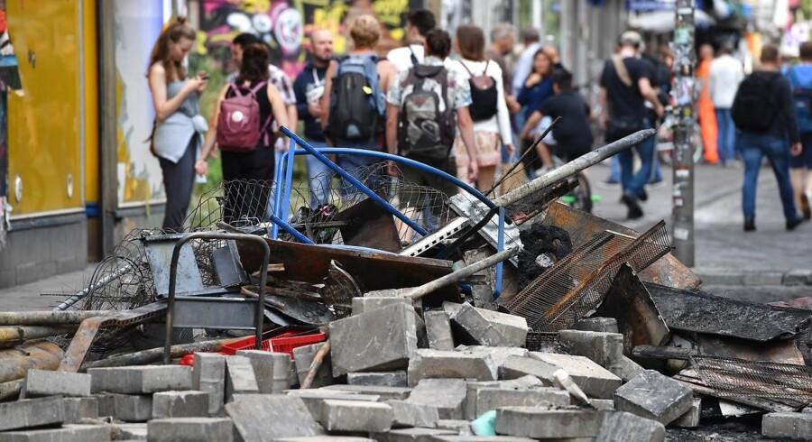 Billeder fra Hamborg efter fredagens demonstrationer.