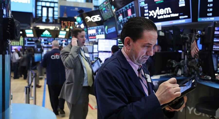 Arkivfoto. Det amerikanske aktiemarked ventes onsdag at åbne tæt på uændret, da investorerne formentlig vil forholde sig relativt afventende frem til offentliggørelsen af referatet fra det seneste rentemøde i Federal Reserve klokken 20 dansk tid.