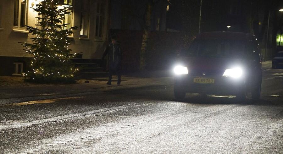 Politiet advarer bilister om, at der er sort is på vejene i Nordjylland.