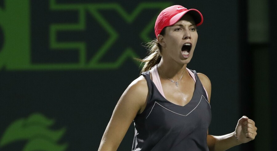 Danielle Collins vandt 6-2, 6-3 over Venus Williams i kvartfinalen. Scanpix/Geoff Burke