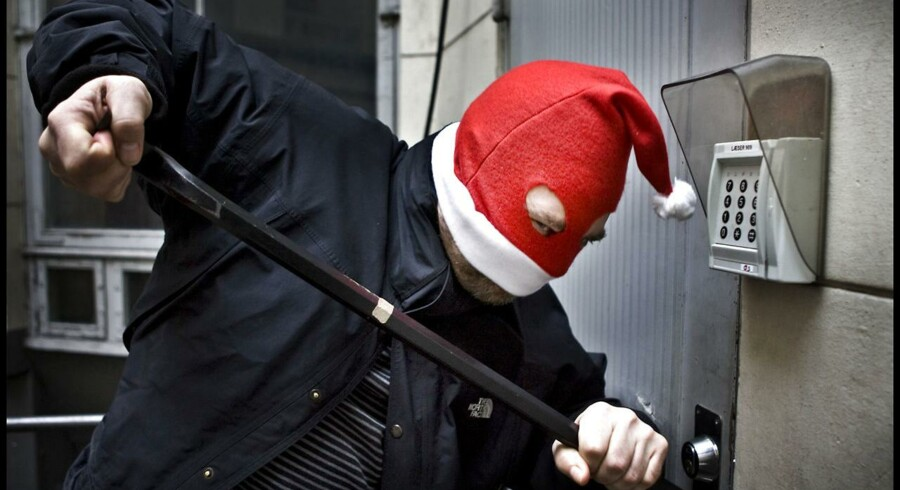 Modelfoto: Indbrud i julen