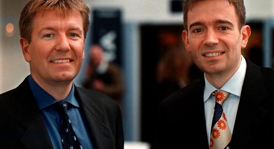 Arkivfoto fra 1999. Her ses brødrene Preben og Erik Damgaard.