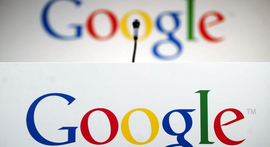 Google indsamler tusindvis af oplysninger om alle, der bruger Googles mange tjenester. Nu skal internetgiganten fortælle, hvad den præcis bruger oplysningerne til omme bag forhænget, så folk har mulighed for at sige nej og vælge andre muligheder. Arkivfoto: Emmanuel Dunand, AFP/Scanpix
