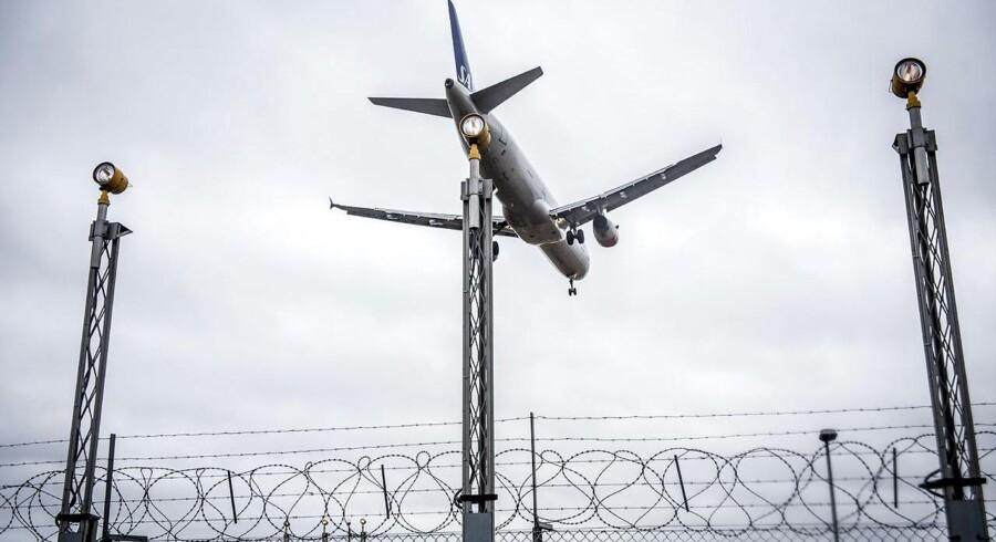 Arkiv: SAS-fly i Københavns Lufthavn, 29. januar 2018.