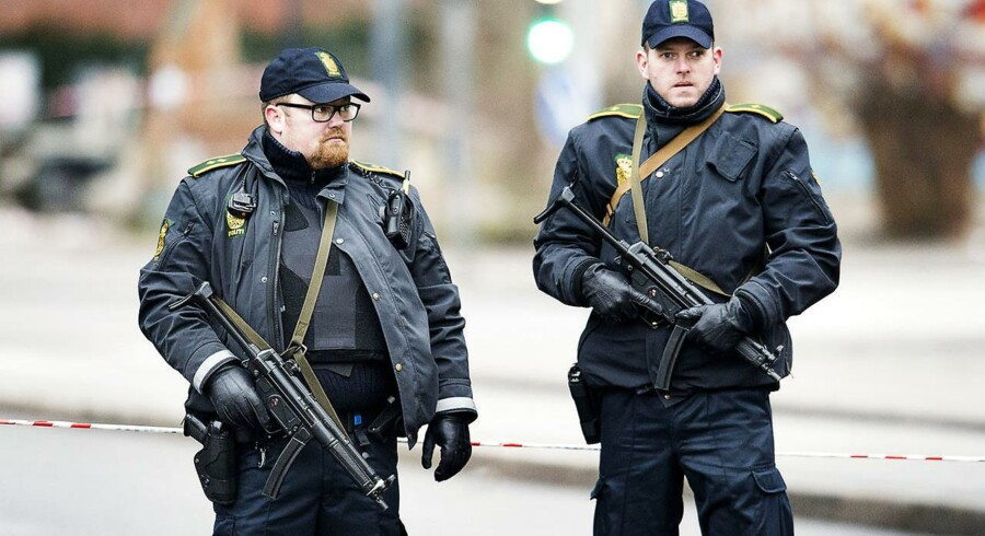 Fyns Politi har ligesom resten af landet bidraget til det øgede beredskab i København efter terrorangrebet i januar 2015. Foto: Claus Beck.