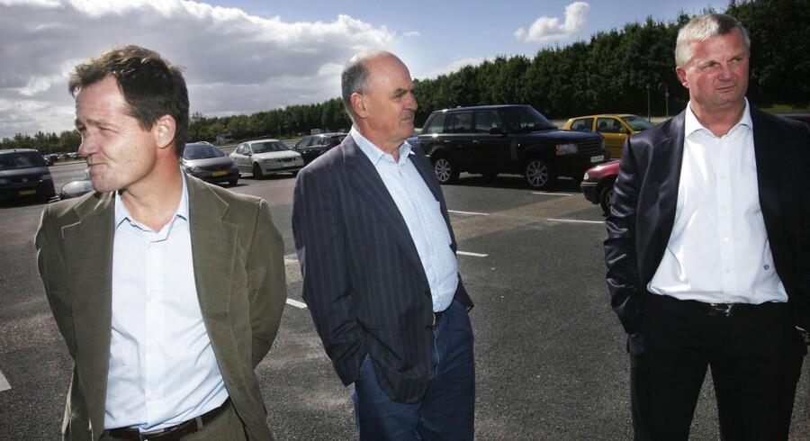 Investorgruppen som ville støtte Peter Schmeichel som ny sportsdirektør i Brøndby. Fra venstre mod højre: Mark Szigethy, Karoly Németh og Aldo Petersen