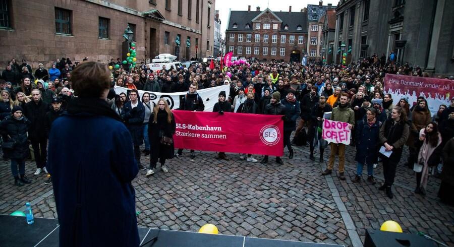 Demonstration mod uddannelsesloftet. Foto: Martin Sylvest / Scanpix 2016
