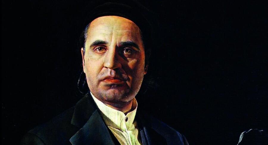 Som Kluge ser sig selv. Udsnit af hans familieportræt med kunstneren kurateret som gammeldags maler. Pressefoto