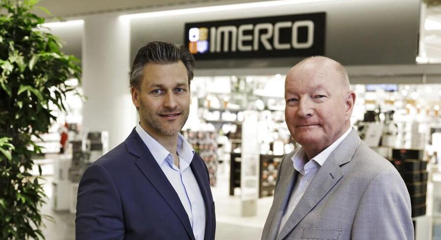 Kædedirektør Frederik Brønnum, og ejer af Imerco, Mikael Goldschmidt, da der var planer om en børsnotering. Nu fusionerer kæden med inspiration.